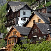 Houses on a hillside